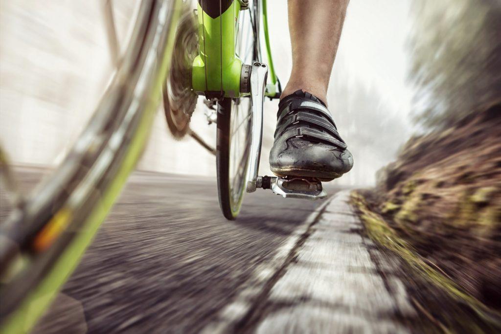 man pedaling