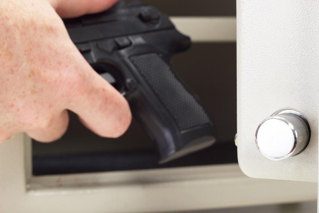 storing a gun