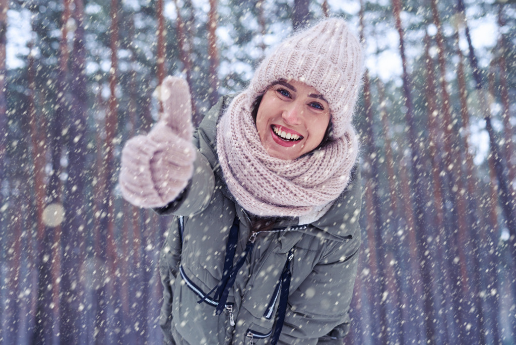 woman outdoors during winter